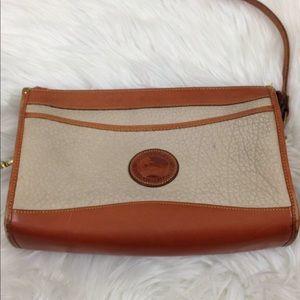 Vintage Dooney & Bourke Crossbody Tan Brown Bag